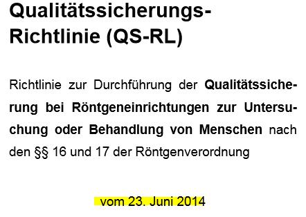 QS-RL und Rundschreiben der Länder