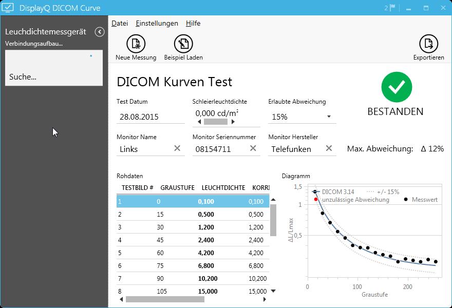 DisplayQ Expert DICOM-Curve
