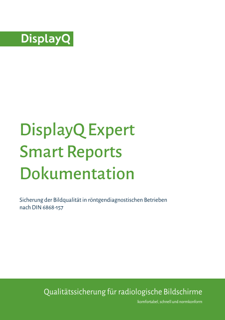 DisplayQ Expert Smart Reports Dokumentation - Übersicht - Titelblatt