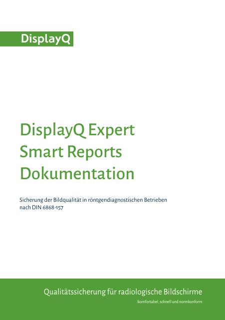 DisplayQ Expert Smart Reports Dokumentation - Übersicht - Titelblatt
