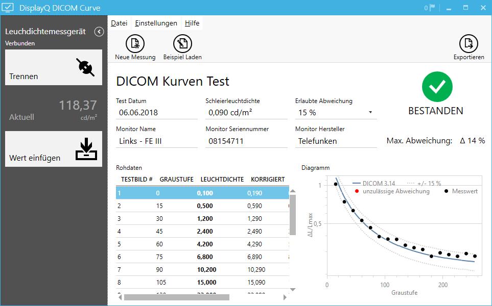 Version 1.3 des DisplayQ Expert DICOM-Curve Tools verfügbar